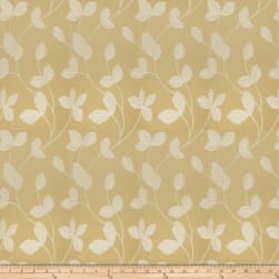 Fabricut Johan Leaves Faux Silk Gold Fabric