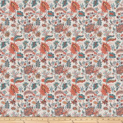 French General Josephine Linen Blend Exotic Sienna Fabric