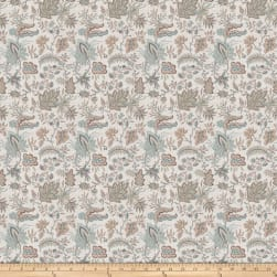 French General Josephine Linen Blend La Mer Fabric
