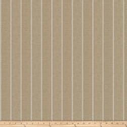 Fabricut Leland Stripe Linen Blend Putty Fabric