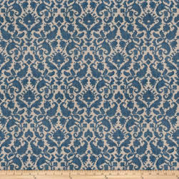French General Loire Linen Blend Indigo Fabric