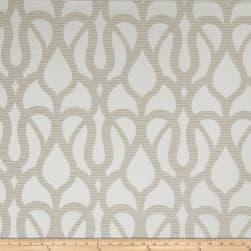 Fabricut Marisol Scroll Faux Silk Taupe Fabric