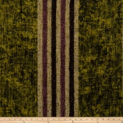 Fabricut Moondance Stripe Chenille Golden Olive Fabric
