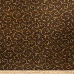 Fabricut Crypton Mosaic Scroll Umber Gold Fabric