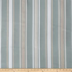 Fabricut Nero D'Avola Stripe Faux Silk Aquamist Fabric