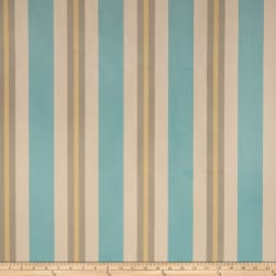 Fabricut Nya Stripe Jacquard Sea Fabric