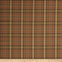 Fabricut Panhard Check Persimmon Fabric