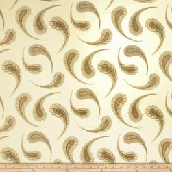 Fabricut Panoz Feather Golden Fabric