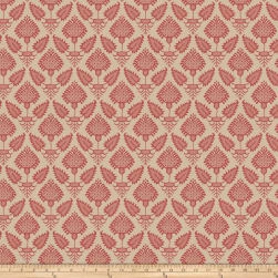 French General Pondicherry Rouge Fabric