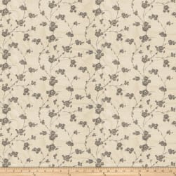 Fabricut Reeves Floral Silk Pewter Fabric