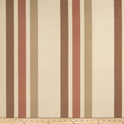 Fabricut Ridge Stripe Faux Silk Sienna
