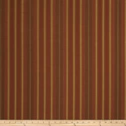 Fabricut Roger Stripe Faux Silk Redwood Fabric