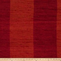 Fabricut Shalini Stripe Silk Vermillion Fabric
