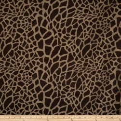 Fabricut Superstar Giraffe Silk Truffle Fabric