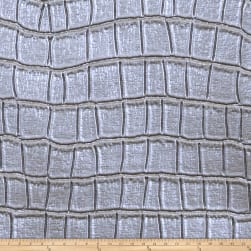 Fabricut Tin Oxide Faux Leather Aluminum Fabric