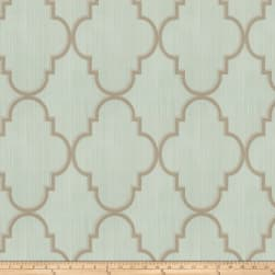Fabricut Toby Lattice Linen Blend Mineral Fabric