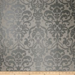 Fabricut Totti Damask Faux Silk Charcoal Fabric