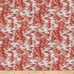 Kendall Wilkinson Water Reflections Outdoor Hot Coral Fabric
