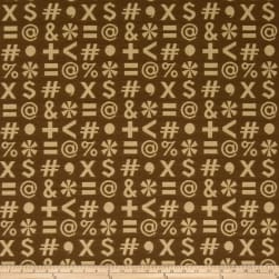 Fabricut Crypton Who,What,When? Tan Quotes Fabric
