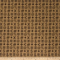 Fabricut Crypton Who,What,When? Brown Comma Fabric