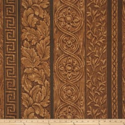 Mount Vernon Wood Grain Dark Walnut Fabric