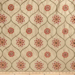 Jaclyn Smith 2096 Faux Silk Terra Cotta Fabric