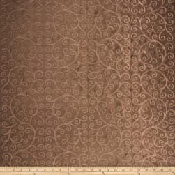 Trend 2307 Faux Silk Chocolate Fabric
