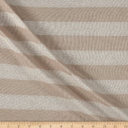 Sweater Knit Solver Stretch Stripe Khaki Fabric