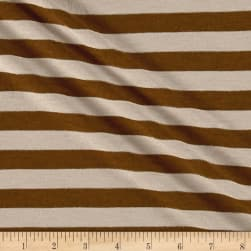 Jersey Knit Stripe Taupe/Brown/Gold Fabric