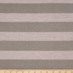 Jersey Knit Stripe Grey/Pink Fabric