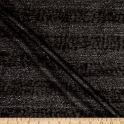 Sweater Knit Black Lurex Stripes Fabric