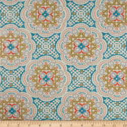 Waverly Sun N Shade Astrid Aqua Fabric