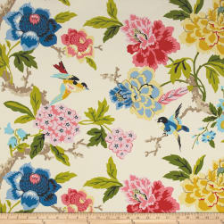 Waverly Sun N Shade Candid Moment Gardenia Fabric