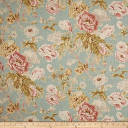 Waverly Among the Roses Mist Fabric