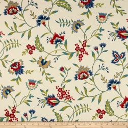 Waverly Carolina Crewel Bluebell Fabric