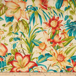 Tommy Bahama Indoor/Outdoor Botanical Glow Tiger Lily Fabric
