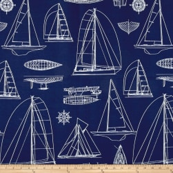 Richloom Solarium Outdoor Sailing Navy Fabric
