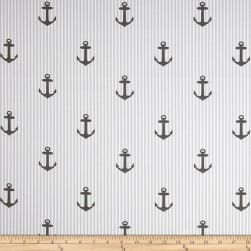 Covington Indoor/Outdoor Anchors Graphite Fabric