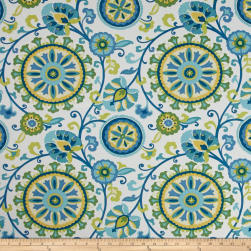 Covington Indoor/Outdoor Moonbeam Caribbean Fabric