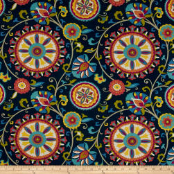 Covington Indoor/Outdoor Moonbeam Midnight Fabric