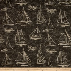 Covington Outdoor Solution Dyed Spindrift Black/Tan Fabric