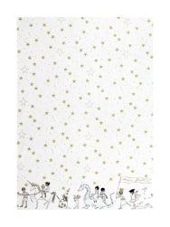 Michael Miller Minky Sarah Jane Magic Magical Parade Border White