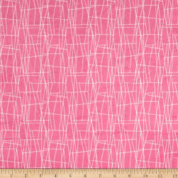 Michael Miller Minky Sassy Cats Web Pink Fabric