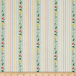 Penny Rose Bunnies & Cream Bunnies Stripe Mint