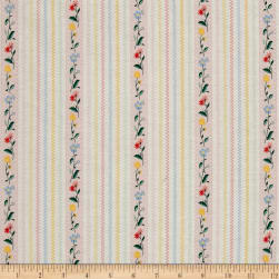 Penny Rose Bunnies & Cream Bunnies Stripe Pink