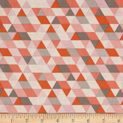 Riley Blake Ava Rose Geometric Coral Fabric