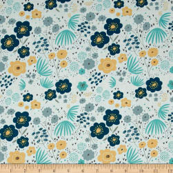 Riley Blake Ava Rose Floral Blue Fabric