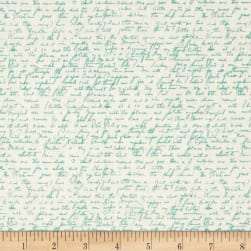 Riley Blake Ava Rose Script Blue Fabric