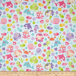 Riley Blake Under The Sea Main Aqua Fabric