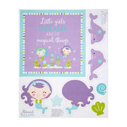 "Riley Blake Under The Sea 36"" Panel Purple"